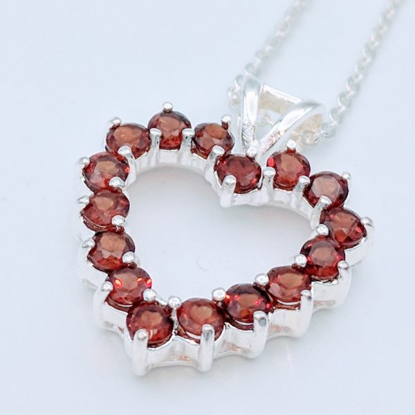 Red garnet heart pendant and necklace kcs jewels garnet heart pendant and necklace redgarnetheartpendantandnecklace 1 lot171 mozeypictures Images